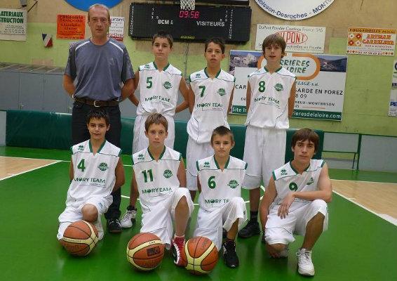 Equipe minimes basket club de montbison 2010